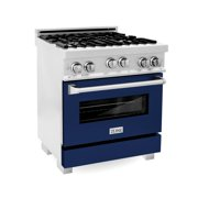 """ZLINE 30"""" 4.0 cu. ft. Range with Gas Stove and Gas Oven in DuraSnow® Stainless Steel with Color Door Options (RGS-SN-30)"""