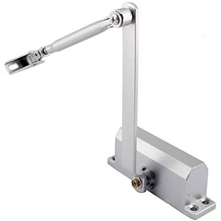 Residential Door Closers (Estink Heavy Duty Aluminum Commercial Door Closer,55lbs-99lbs Overhead Fire Rated Door Closer Two Independent Valves Control Sweep For Residential Commercial)