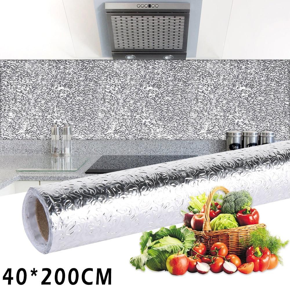 Aluminum Foil Self Adhesive Waterproof Oil Proof Kitchen Sticker Home Decor 1PC