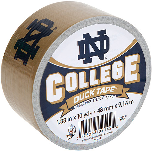 "Duck Brand Duct Tape, College Logo Duck Tape, 1.88"" x 10 yard, Notre Dame Fighting Irish"