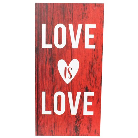 VALENTINE LOVE IS LOVE BOX SIGN, 5 X10 INCH - Cool Valentines Boxes