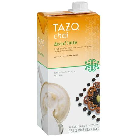 Tazo Decaf Chai Spiced Black Tea Latte Concentrate  32 Oz