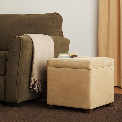 Canopy Easy-Care Microfiber Storage Cube, Clay Beige