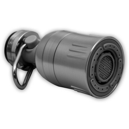 Niagara Conservation Deluxe Dual Spray 1 5 Gpm Kitchen Faucet Aerator In Brushed Nickel