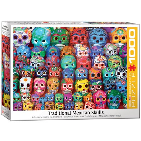 Traditional Mexican Skulls 1000-Piece Puzzle