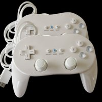 2 Classic Controller Pro For Nintendo Wii Remote White US Ship