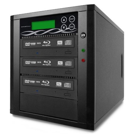 Bestduplicator M-Series (High Performance) - 3 Target 24X SATA Blu-Ray DVD CD Duplicator (Standalone Audio Video Copy