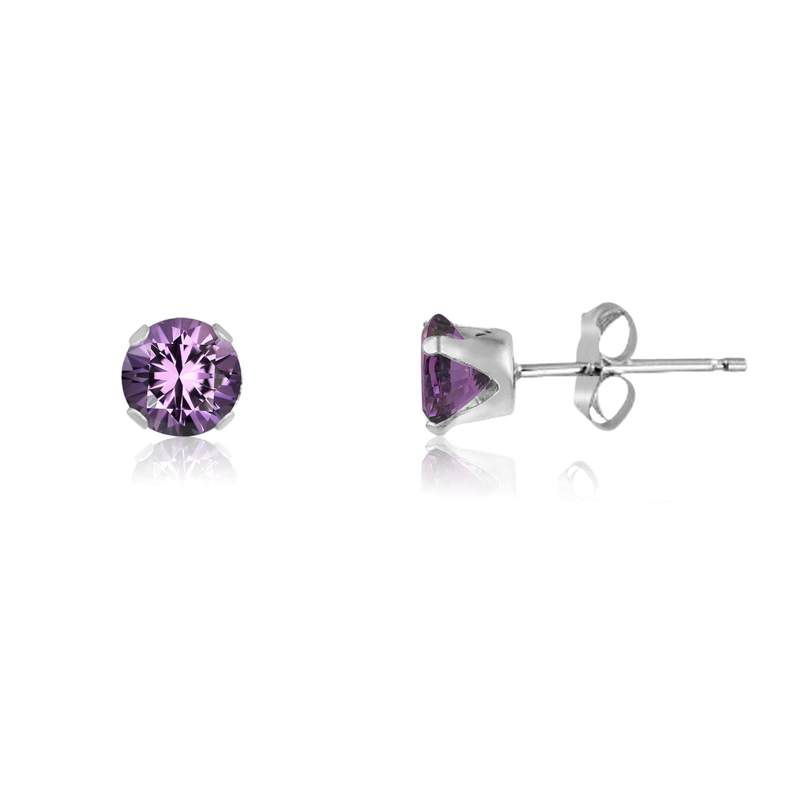 Hot Pink Earrings Black Dangle Earrings Statement Earrings