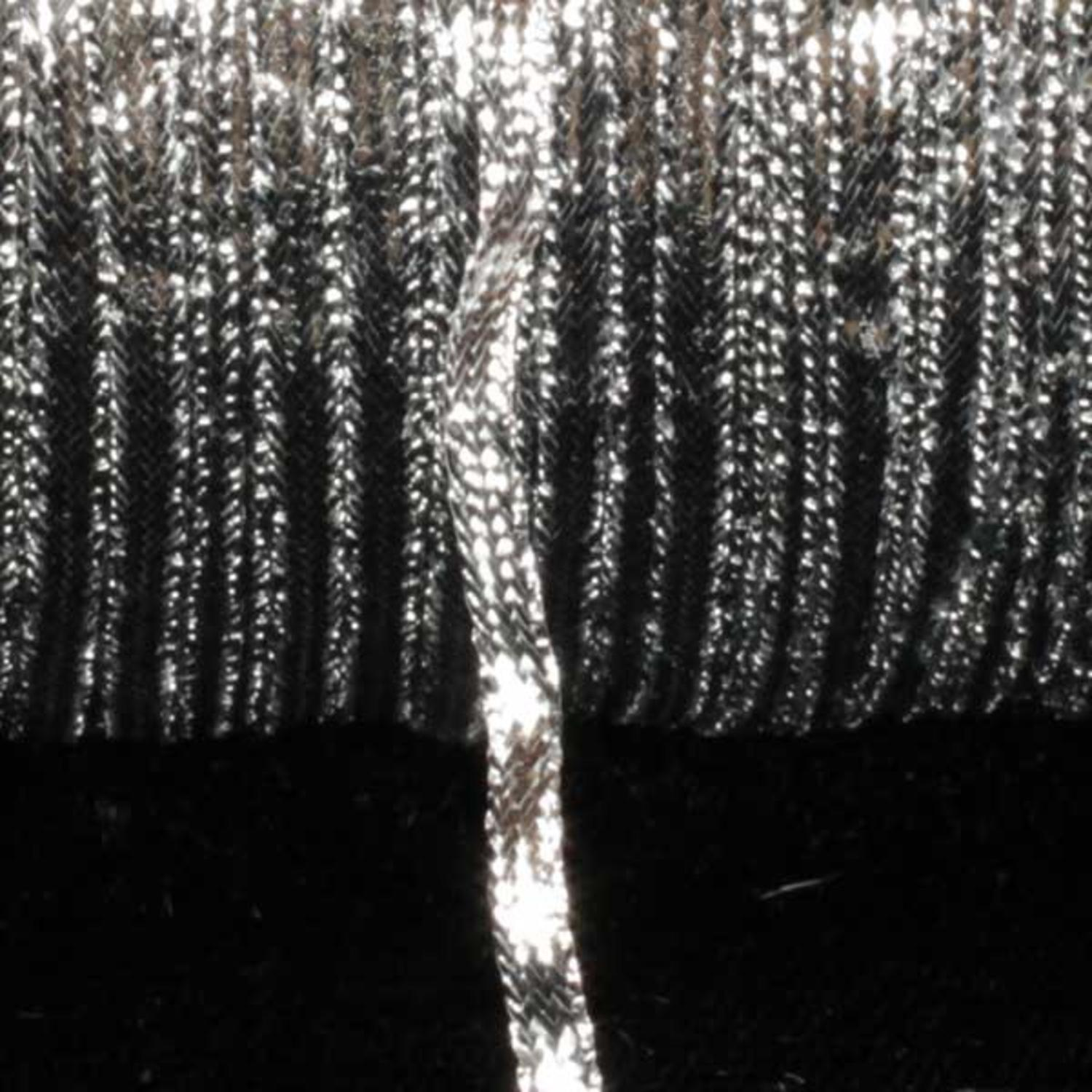Metallic Silver Braided Trimming 3mm x 436 Yards