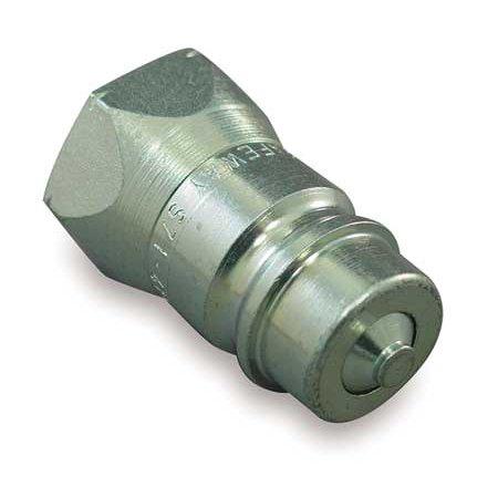 Half Coupler (SAFEWAY HYDRAULICS S71-4P Coupler Nipple, 1/2-14, 1/2 In. Body, Steel)