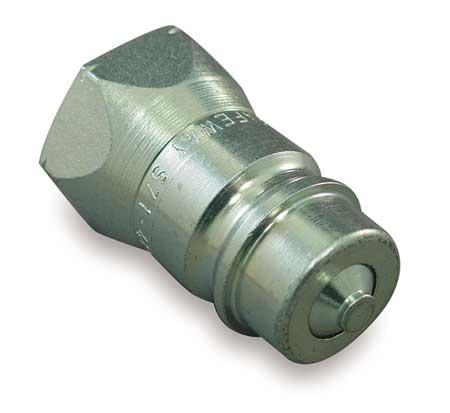 SAFEWAY HYDRAULICS S41-2P Coupler Nipple, 1/4-18, 1/4 In. Body, Steel