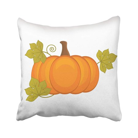 USART Green Agriculture Pumpkin Halloween Thanksgiving Orange Autumn Celebration Clipart Pillow Case Pillow Cover 16x16 inch Throw Pillow Covers