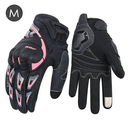 Akoyovwerve Summer Full Finger Motorcycle Riding Gloves Universal Unisex Mesh Breathable Safe Touch Screen Cycling Gloves Summer Motorcycle Riding Gloves