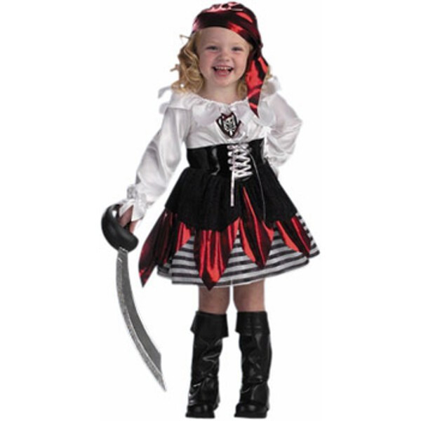 Child's Petite Pirate Girl Costume by