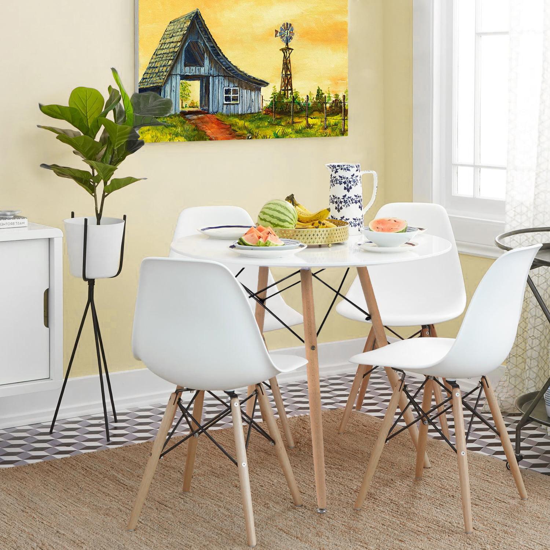 Walnew Pre Assembled Mid Century Modern, Modern Design Dining Room Chair