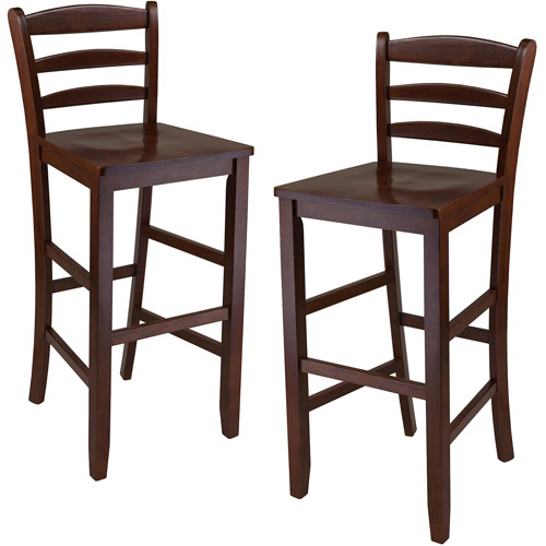 Ladder-Back Solid Wood Counter Stools, Set of 2 by Winsome