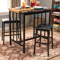 Home Source Table & 2 Chairs - Brown