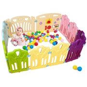 12 Panel Baby Playpen Kids Activity Centre Safety Play Yard Home Indoor Outdoor Portable Pen (multicolour, Classic set)