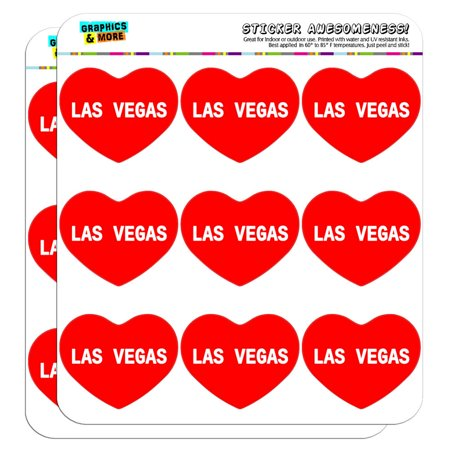 """I Love Heart - Places - Las Vegas - 2"""" Scrapbooking Crafting Stickers"""