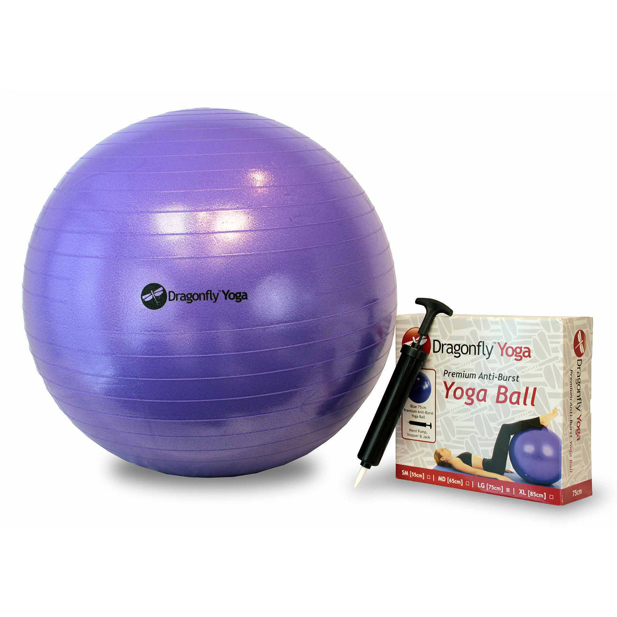 Dragonfly 65 cm Premium Anti-Burst Yoga Ball