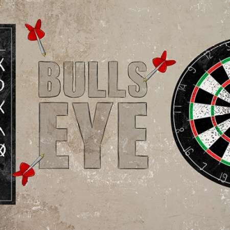 Bulls Eye Stretched Canvas - SD Graphics (12 x 12)