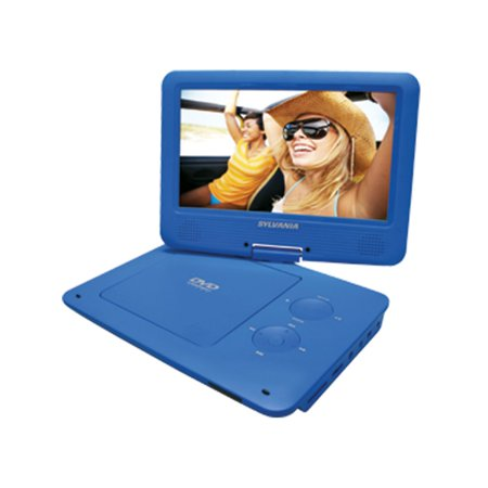 Sylvania SDVD9020B-B Portable Dvd Player With 9 Inch Widescreen Swivel Display Blue