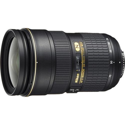 Iluminacion Para Camara Nikon AF-S Nikkor 24-70mm f / 2.8G ED Wide Angle Lens + Nikon en Veo y Compro