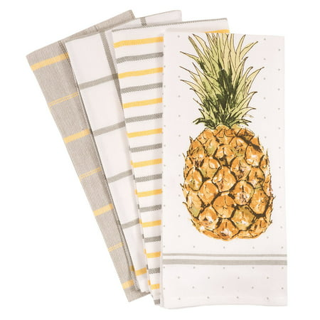 Kitchen Pantry Scientist Halloween (Pantry Pineapple, 4 Pack, Kitchen Dish Towel, 18