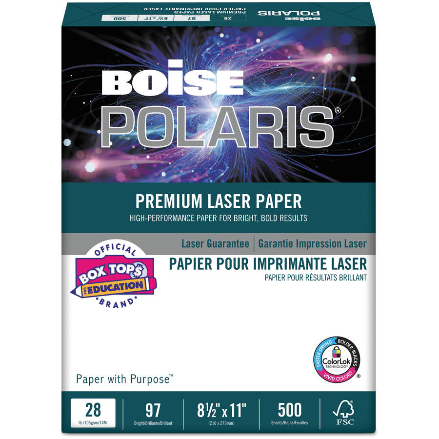 "Boise HD:P Presentation Laser Paper, 96 Brightness, 8.5"" x 11"", White, 500 Sheets"