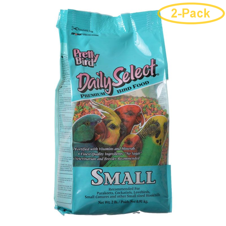 Pretty Bird Daily Select Premium Bird Food Small (2 lbs) - Pack of 2