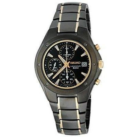 - men's snd641 titanium chronograph gold-tone accented watch