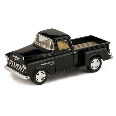 1955 Double Die Cent (Black 1955 Chevy Stepside Pick-Up Die Cast Collectible Toy Truck, Made of Quality Die Cast Metal By)