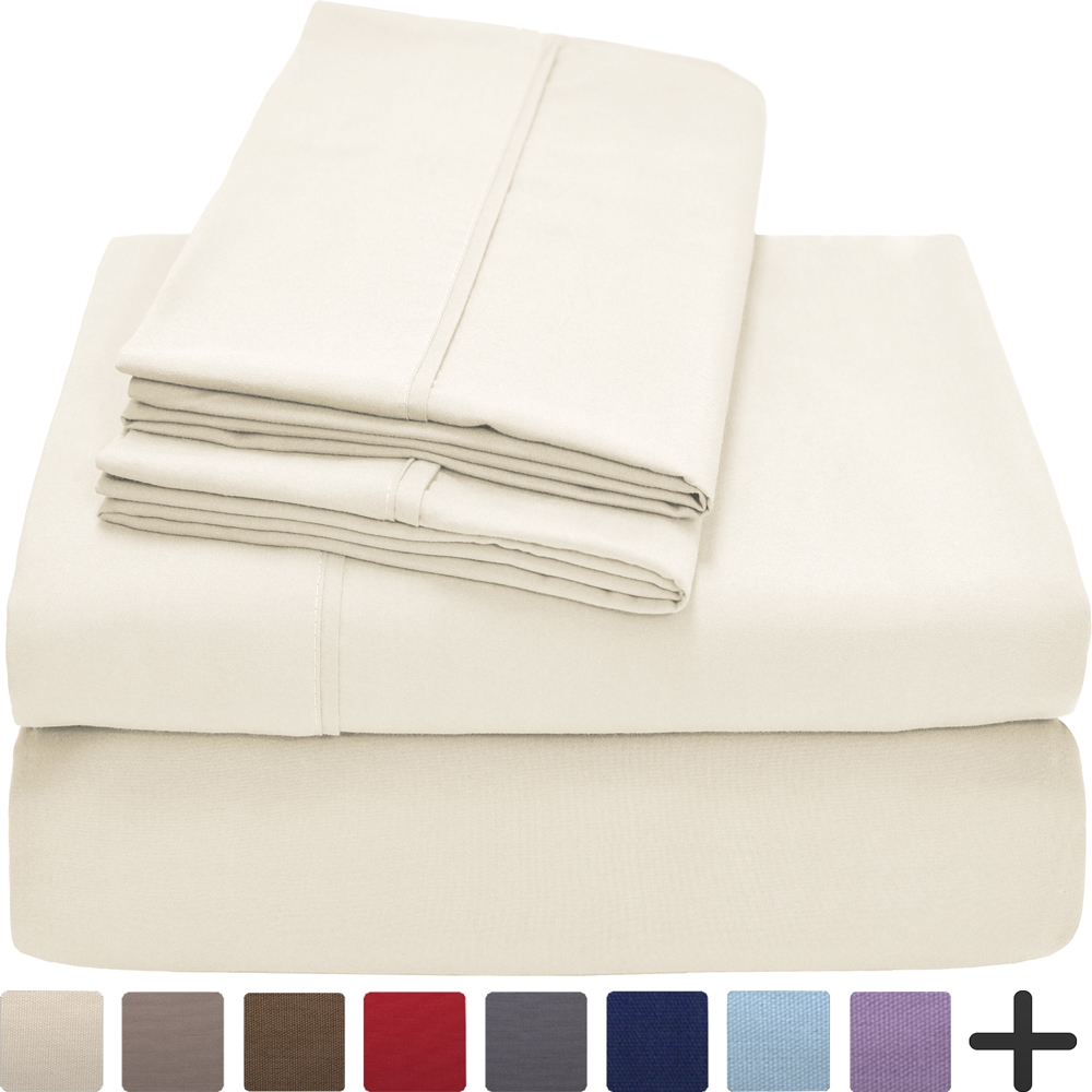 Merveilleux Premium 1800 Ultra Soft Microfiber Sheet Set Full Extra Long   Double  Brushed   Hypoallergenic   Wrinkle Resistant (Full XL, Ivory)   Walmart.com