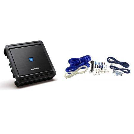 Alpine Class D Mono Digital Subwoofer + VM Audio 4 Gauge Amp Install Kit w/  RCA