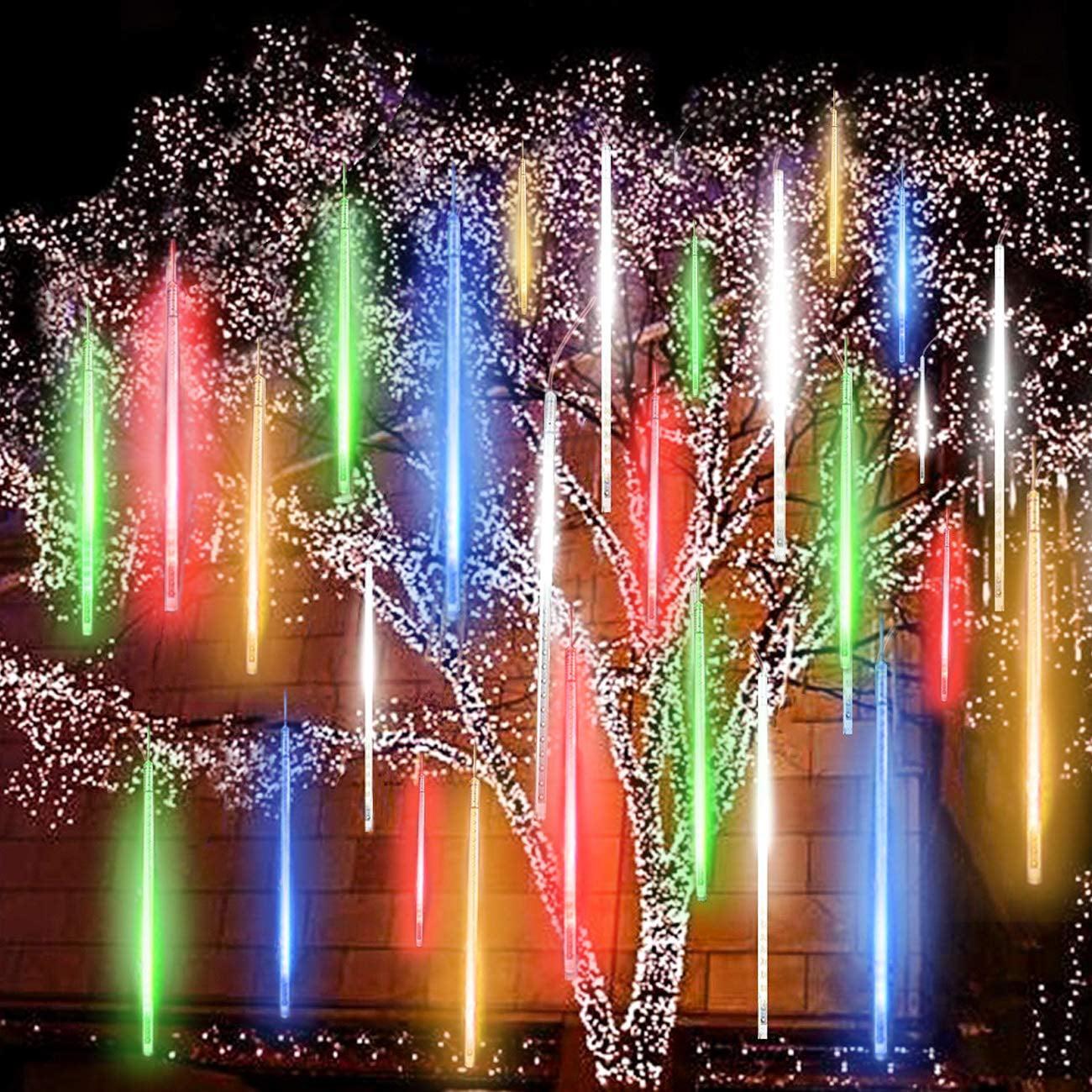 Mgaxyff LED Falling Rain Lights, 50cm 240 LED Meteor ...