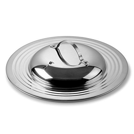 - Modern Innovations Elegant 18/8 Stainless Steel Universal Lid with Adjustable Steam Vent, Fits All 7