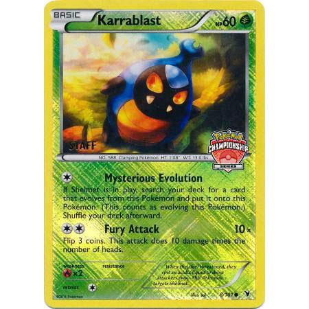 Pokemon Championship Promo Single Card Rare Holo Karrablast 8