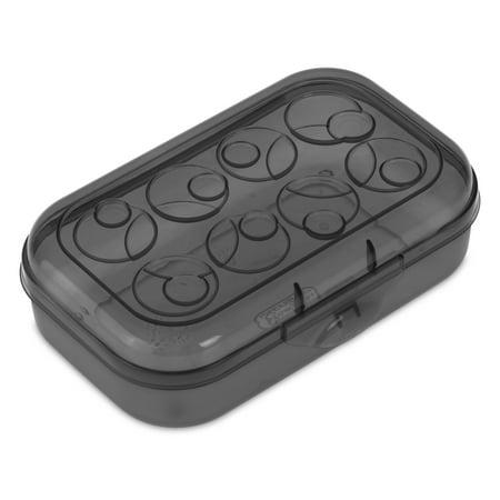 Sterilite Plastic Pencil Box, Black Tint