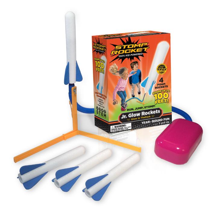 Stomp Rocket® Jr. Glow, 4 Rockets