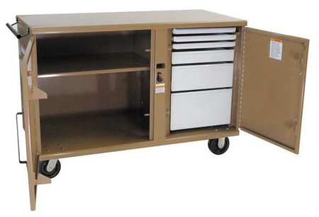 Knaack Jobsite Mobile Workbench, Steel, Tan, 58 by KNAACK