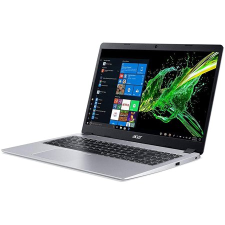 "Acer Aspire 5 15.6"" FHD Laptop Computer, AMD Ryzen 3 3200U Up to 3.5GHz (Beats i5-7200U), 4GB DDR4 RAM, 128GB PCIe SSD, 802.11ac WiFi, HDMI, Backlit Keyboard, Silver, Windows 10 Home in S Mode"
