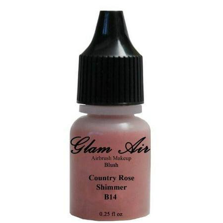 Glam Air Airbrush B14 Country Rose Shimmer Blush Water-based Makeup 0.25 Oz