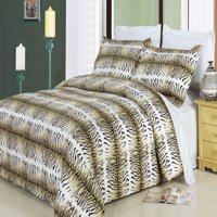Clearance: Soft 100% Cotton Printed 3 Piece Duvet Cover Set-Full/Queen-Safari