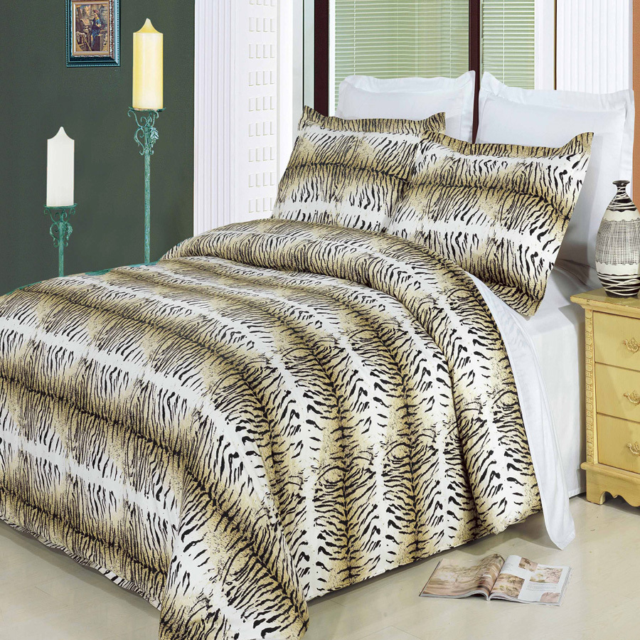 Clearance: Soft 100% Cotton Printed 3 Piece Duvet Cover Set-King/California King-Safari