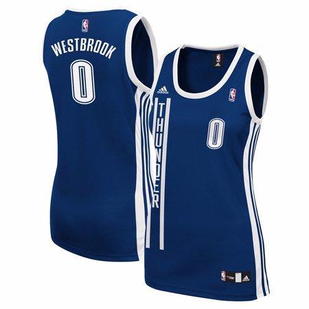 adidas - Russell Westbrook Oklahoma City Thunder NBA Adidas Navy Blue  Official Alternate Replica Jersey For Women - Walmart.com 0b486dc2d2