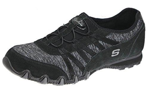 Skechers Sneakers, Bikers Convincing Women's Fashion Sneakers, Skechers Black, 9.5 Wide US affa5f