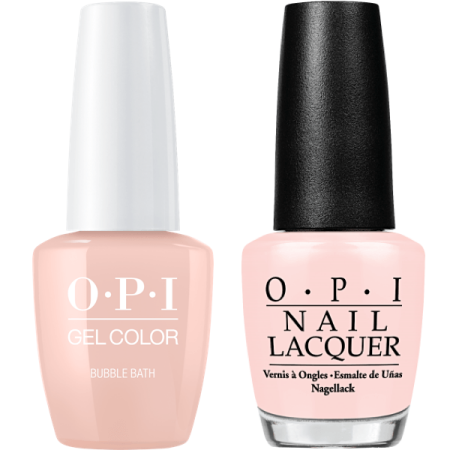 OPI GELCOLOR + MATCHING LACQUER BUBBLE BATH #S86 (Opi Step Right Up Vs Bubble Bath)