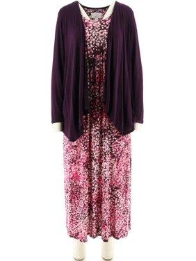 Carole Hochman Abstract Hydrangea Maxi Dress Set A273581