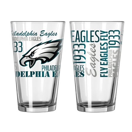 - Boelter Brands NFL Set of Two 16 Ounce Spirit Pint Glass Set, Philadelphia Eagles