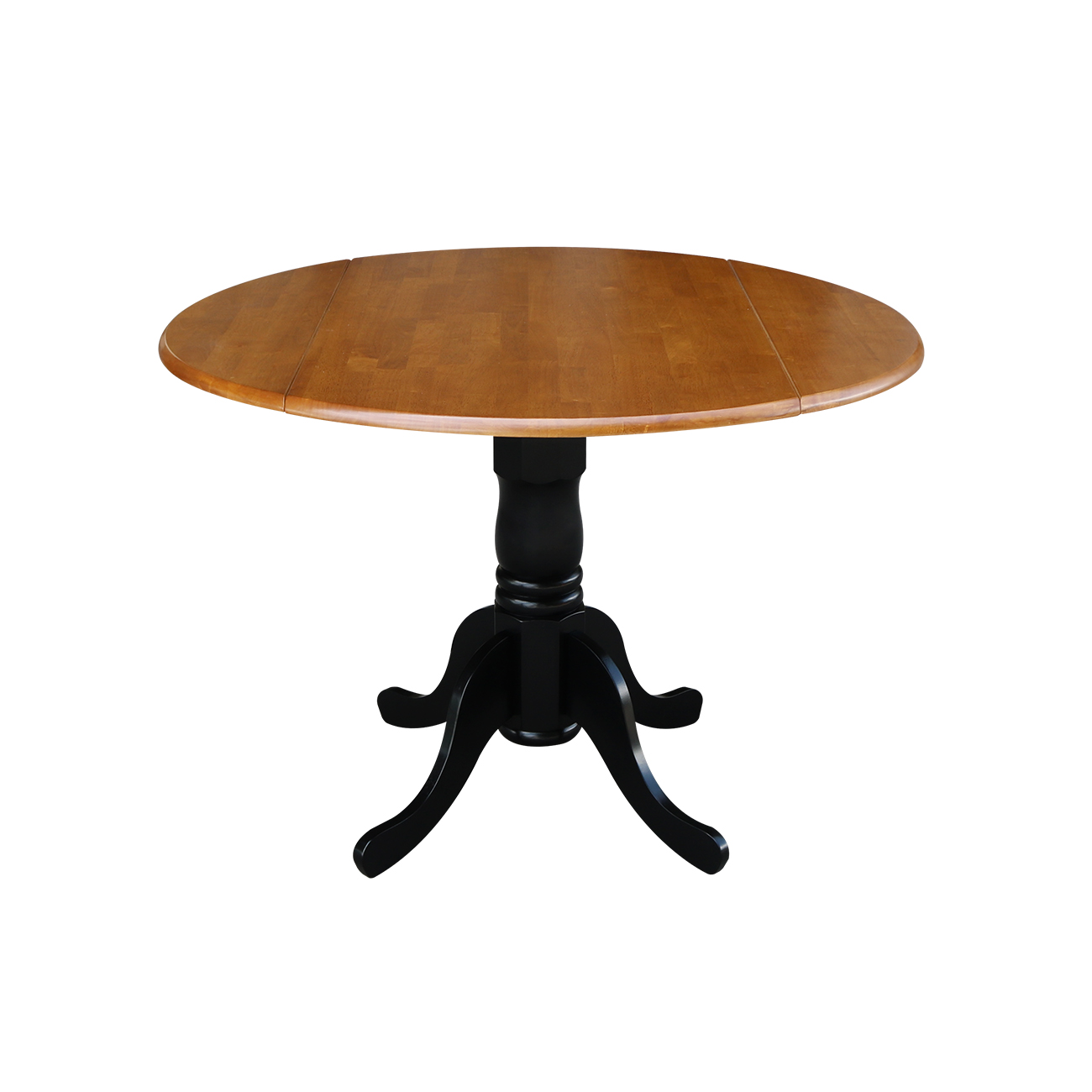 Round Kitchen Table With Drop Leaves, Black / Cherry   Walmart.com